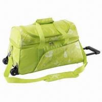 China Trolley cooler bag, 300D polyester fabric with TPE laminated + aluminium foil lining on sale