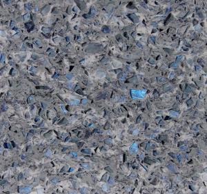 Cheap Stone Cutting Artificial Quartz Jewelry Blue Abrasion Resistance Quartz Stone Slab wholesale