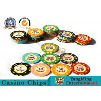 Cheap 11.8g Colorful Casino Poker Chips And Cards / Custom Plaque Stickers wholesale