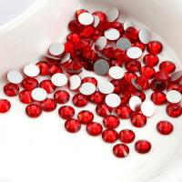 Cheap Red Color Heat Fix Rhinestones Lead Free Crystal Material For Bag / Garment wholesale