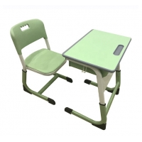 Cheap Classroom Steel School Furniture Study Desk And Chair Customized Size / Color wholesale