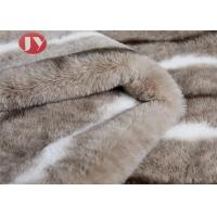 Cheap fuzzy Faux Animal Fur Blanket with Fluffy Plush Sherpa Cozy Warm Microfiber Chinchilla Rabbit Fur Blanket for Bed Couch wholesale