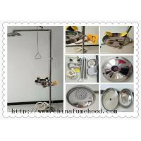 Cheap 316 Stainless Steel Floor Laboratory Fittings Chemical Shower And Eyewash Station wholesale