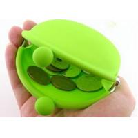 Cheap Green Silicone Wallets With Kiss Lock, Custom Logo 90 * 72 * 40mm wholesale