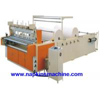 Coloured Toilet Paper Making Machine , Toilet Paper Converting Machine
