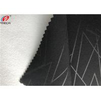 China Embossed 4 Way Stretch Fabric Composite With Polyester Brushed Fabric Garment Use on sale