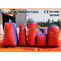 Cheap Commercial Inflatable Paintball Bunkers / Adult Inflatable Nerf Arena wholesale