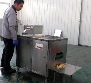 Cheap High Capacity Banana Chips Production Line Green Banana Slicing Machine 0.74kw Power wholesale