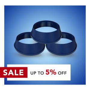 Cheap ASTM 20mm Dark Blue 2.6cm Aluminium Plastic Trim Cap Profiles wholesale