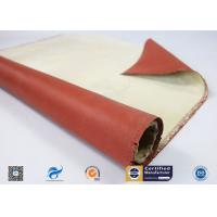 Cheap 96% High Silica Cloth Coated With One Side Red Silicone  For Fireproof wholesale