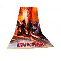 Buy cheap Captain America Photo Beach Towel Civil War Pattern Non - Fade Water Based Prints from wholesalers