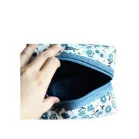 Cheap Promotional Printed Floral Canvas Cosmetic Bags / Canvas Makeup Bags wholesale