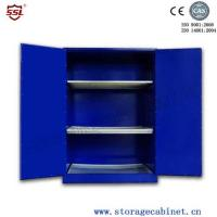 Blue Chemical Liquid Sulfuric Corrosive Storage Cabinet With 2 Doors