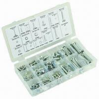 Cheap 240 Pieces Nut and Bolt Assortment with Long Machine, Hex Nut and Split Washer Sizess wholesale