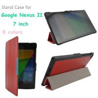 Cheap 7 Inch Google Nexus Tablet Protective Case PU Leather , Red / Black wholesale