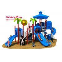 Cheap Vivid Color Image Kids Plastic Slide , Shopping Mall Outdoor Play Slide 32m³ wholesale