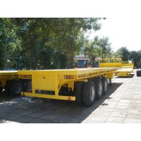Cheap container flatbed semi-trailer with bulkhead for sale - CIMC VEHICLE wholesale