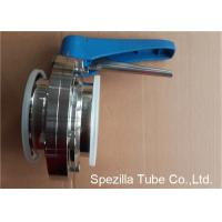A270 Sanitary Valves And Fittings Stainless Steel Plastic Handle Tri Clamp Butterfly Valve