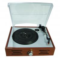 Buy cheap 2015 NEW wooden retro 3 speed turntable player with two stereo speaker from wholesalers