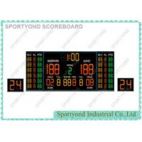 Magnetic Indoor Game Electronic Basketball Scoreboard with Double 24s Shot Clocks and Time Display