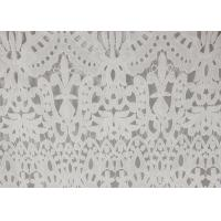 Cheap 120cm Wide Polyester Water Soluble Lace Fabric , Eyelet Vintage Lace Fabric wholesale