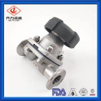 Cheap Double Layer Tank Bottom Diaphragm Valves Welded 316L PTFE Add EPDM Seal wholesale