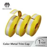 Buy cheap 65mm Waterproof Mirror Gold Aluminum Core Channel Letter Trim Cap Profiles from wholesalers