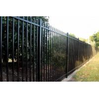 Security fencing spear top black panel of
