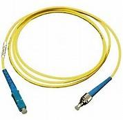 Cheap ST to SC Simplex Singlemode 9 / 125 μm Fiber Optic Patch Cord in Yellow PVC Jacket wholesale