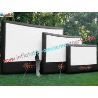 Cheap Professional Outside Inflatable Movie Screen With 0.55mm PVC Tarpaulin wholesale