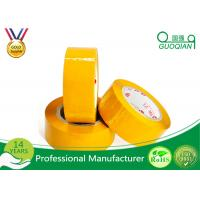 Cheap Yellowish Colored Duct Tape Waterproof Masking Tape For Carton Sealing Hot Melt Adhesive wholesale