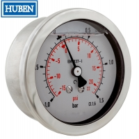 Cheap Liquid Filled Pressure Gauge - 0-40 bar - Bottom mount wholesale