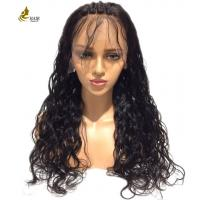 Buy cheap Kinky Curl Full Lace Human Hair Wigs Soft Silky With Customized Color from wholesalers