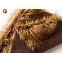 Cheap Gold Raccoon Fluffy Faux Fur Fabric , Soft Faux Fur Fabric For Collar 850 Gsm wholesale