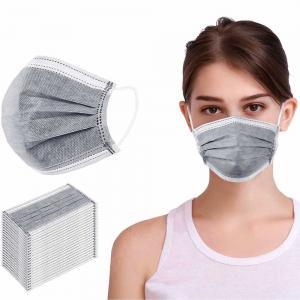 Cheap Non Woven Disposable Dust Mask , Triple Layer Surgical Mask Liquid Proof wholesale