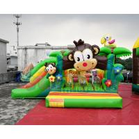 Buy cheap 0.55mm PVC Tarpaulin Inflatable Bouncer Slide / Awesome Monkey Bouncy Castle from wholesalers