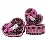 China Heart Shaped Gift Box 2 - with pink ribbon and chocolate color on sale