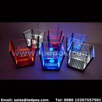 Cheap Ledpos Customized Rechargeable LED Ice Bucket for sale