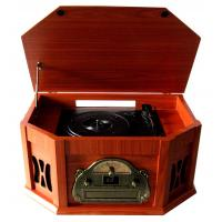 Cheap 2015 Populat Vintage CD Turntable Cassette Player with AM FM Radio wholesale