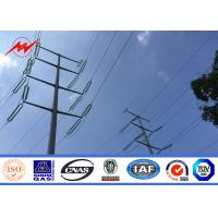 Cheap 16m 20m 25m Galvanized Electrical Power Pole For 110 kv Cables Power Coating wholesale