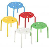 Cheap Colored Classroom Stackable Kitchen Stools For Kids Students Metal Leg Bar Stools wholesale