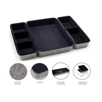 Cheap Navy 10.6x7.5x1.8 Felt Storage Boxes For Drawers wholesale