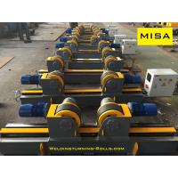 Buy cheap Rubber Wheels Conventional Welding Rotator Yellow Painting Screw Adjustment from wholesalers