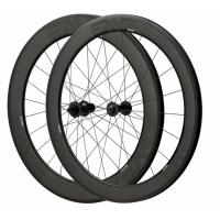 Depth 60mm Carbon Fiber Bike Wheels 23mm Width Clincher Tubular For Racing