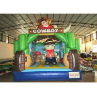 Cheap Kindergarten Baby Custom Made Inflatables Cowboy 5 X 4 X 4m Double Stitching wholesale