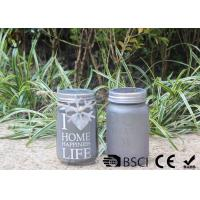 Cheap Customized Mason Jar Led Solar Lights , Solar Powered Mason Jar Lantern wholesale