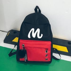 Cheap summer new school wind color letters hanging backpack handbag student bag wholesale
