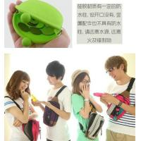 Cheap Eco-friendly Green Silicone Coin Purse With Custom LOGO, Zip / Kiss Lock 90 * 72 * 40mm wholesale