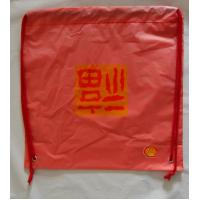 Cheap Red Plastic Drawstring Double shoulder Backpack / drawstring shopping bags wholesale