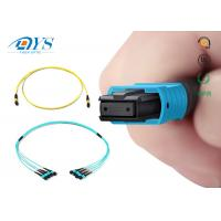 Buy cheap Factory price 8 12 24 fiber OM3 Plenum MPO/MTP Trunk Cable OM3 OM4 12Fiber 24 from wholesalers